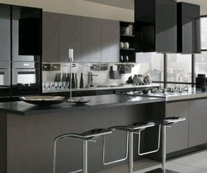 kitchen, home, and modern image