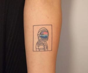 tattoo, aesthetic, and astronaut image