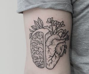 tattoo, art, and heart image