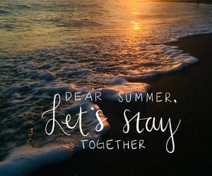summer, words, and beach image