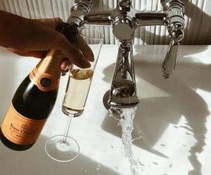 aesthetic, bath, and champagne image