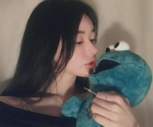 asian, cookie monster, and elmo image
