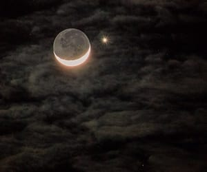 moon, night, and stars image