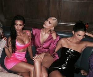kylie jenner, kim kardashian, and party image