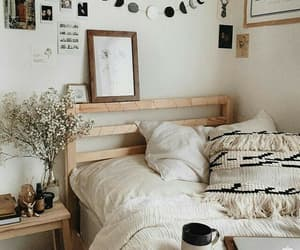 home, room, and bed image