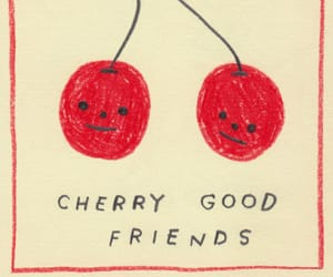 art, cherry, and friends image