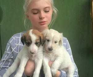 female, green, and puppies image