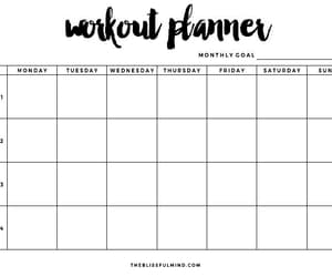 workout, fitness, and planner image