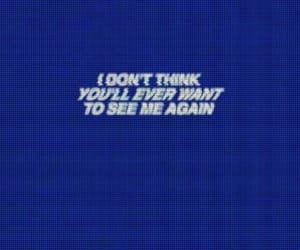 blue, quotes, and sad image