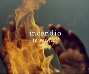 harry potter, incendio, and fire image