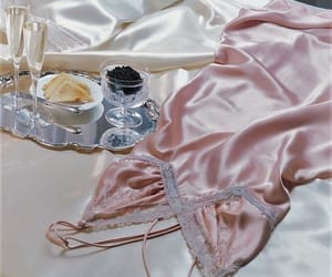 pink, satin, and white image