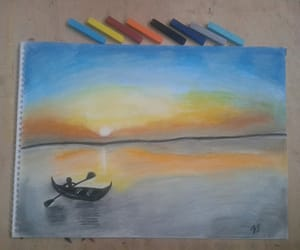soft pastel, lanscape, and pastel image