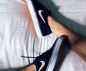 black and white, shoes, and style image