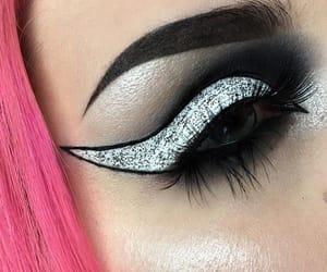 eyeshadow, fashion, and grunge image