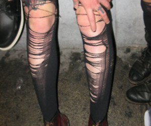 fashion, goth, and tights image