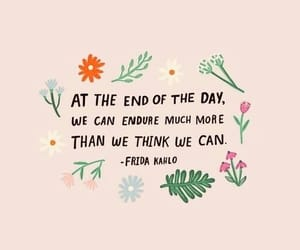 quotes, flowers, and Frida image