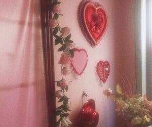 aesthetic, pink, and red image