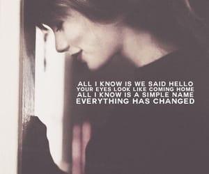 Taylor Swift, everything has changed, and Lyrics image