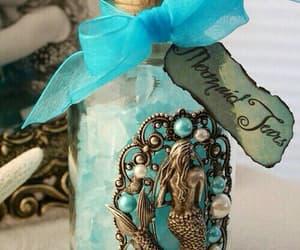 mermaid, tears, and blue image