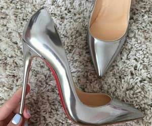 heels, shoes, and silber image