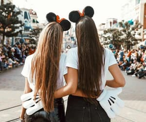 girl, disney, and friendship image