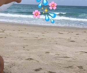 beach, girls, and snap image