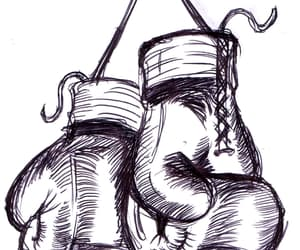 boxing, drawing, and gloves image