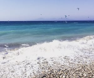 plage, rhodes, and voyage image