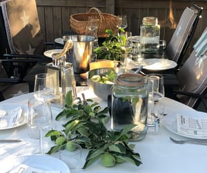 decor, dinner, and food image
