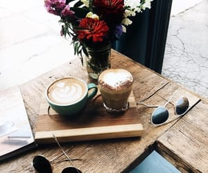 breakfast, coffe, and flowers image