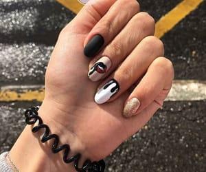 fashion, lips, and nail polish image