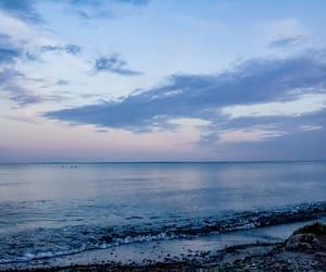 beach, purple, and ostsee image