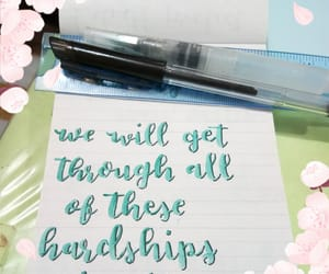 calligraphy, donotgiveup, and brushlettering image