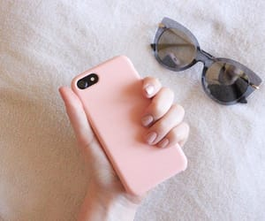 iphone, nails, and tumbler image