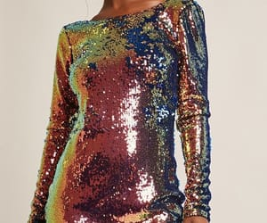 dress, sequins, and fashion image