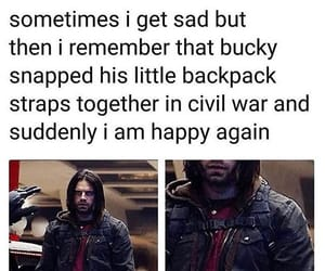 Avengers, Marvel, and bucky image
