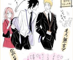 sasuke uchiha, sasusaku, and naruto uzumaki image