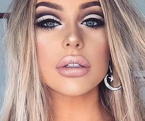 makeup, blonde, and lips image