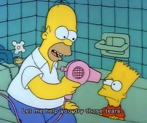 the simpsons, simpsons, and tears image