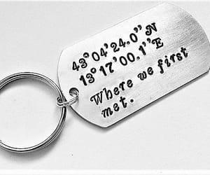 custom keychain, latitude longitude, and coordinates keychain image