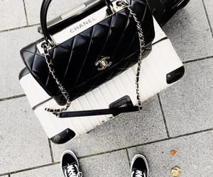 bag, black, and chanel image