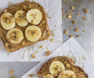 banana, peanut butter, and vegetarian image