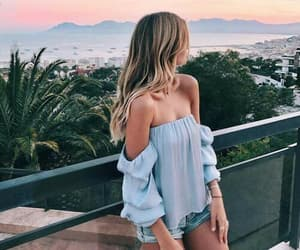 baby blue, outfit, and summer image
