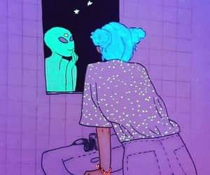 alien, girl, and art image