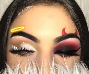 makeup, Halloween, and angel image