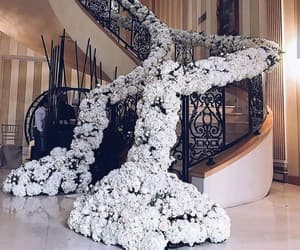decoration, flowers, and staircase image