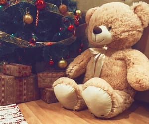 christmas, new year, and teddy bear image