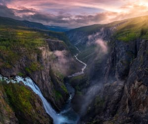 norway, waterfalls, and landscapephotography image