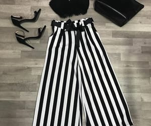 elegant, outfit, and stripes image