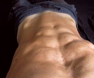 abs, fitness, and men image
